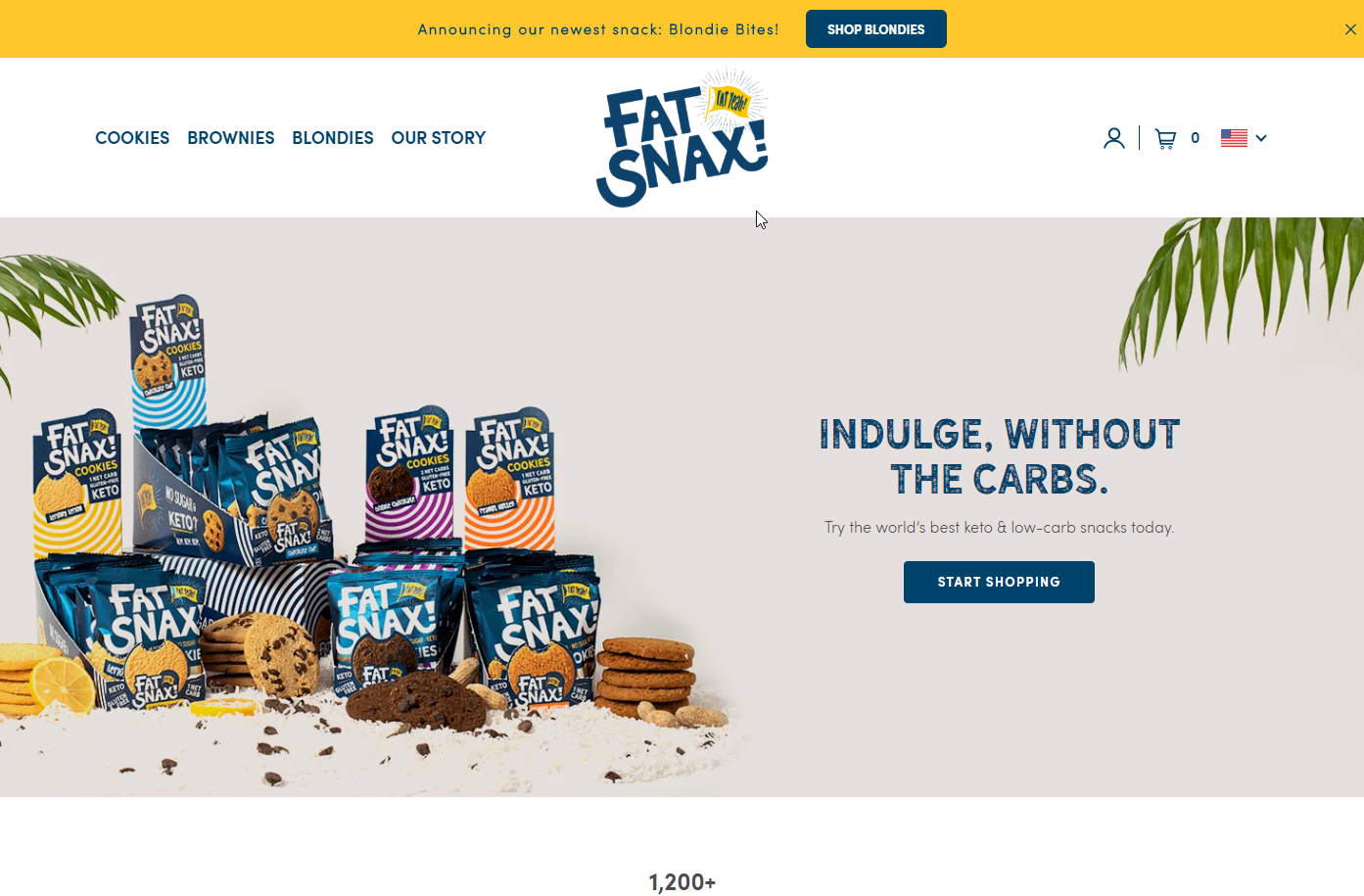 Fat Snax homepage